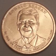 40-й Президент США, Рональд Рейган 1доллар 2016г.